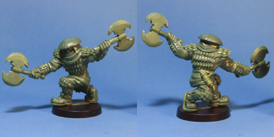 Stonehaven Miniatures Adventurers 2017 Half-Orc Warlord