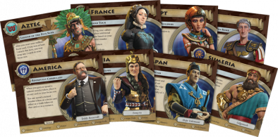 FFG Sid Meier's Civilization A New Dawn Leaders