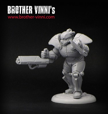 Brother Vinni Ogroid Chief In Power Armour Front