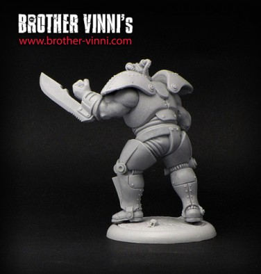 Brother Vinni Ogroid Chief In Power Armour Back