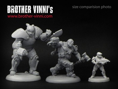 Brother Vinni Ogroid Chief In Power Armour Scale