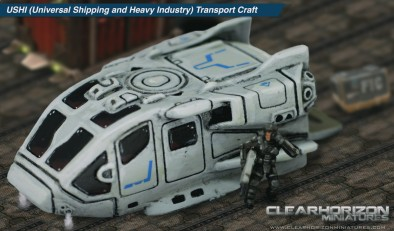 Clear Horizon Miniatures USHI 15mm Transport Craft