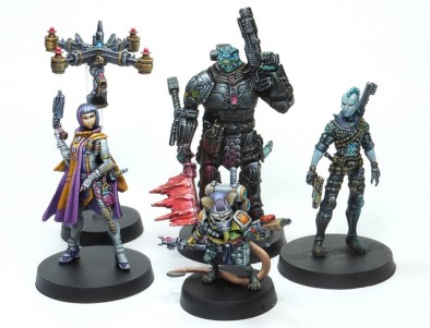 Painted Starfinder Miniatures