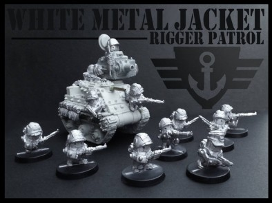 White Metal Jacket Rigger Patrol