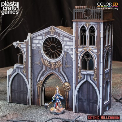 Gothic Church Ruined Front