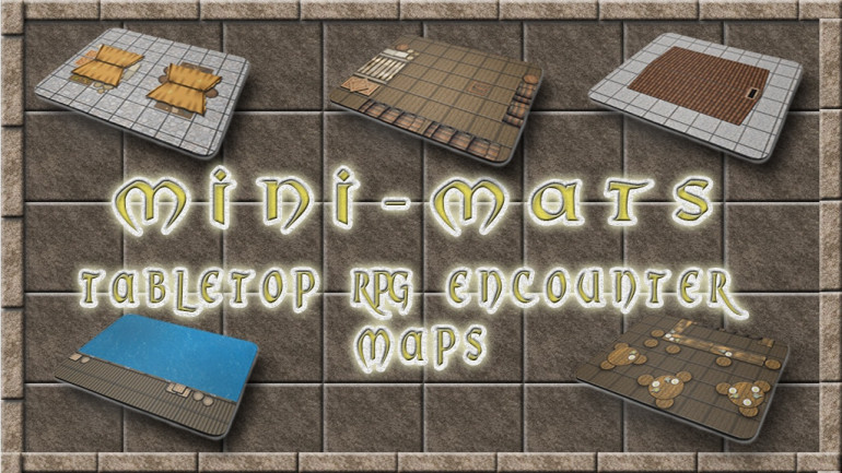 Mini-Mats - TableTop RPG Encounter Maps - 28mm & 15mm!