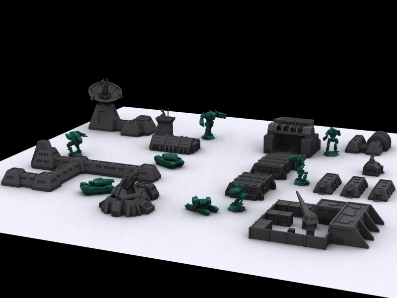 DFA Miniatures Launching 6mm Sci-Fi Terrain Kickstarter This