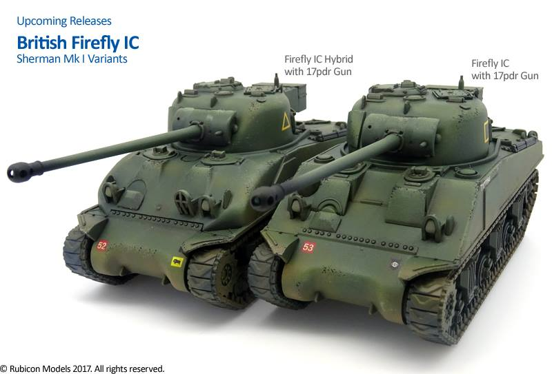 Rubicon Models Show Off Upcoming Sherman/Firefly Kits