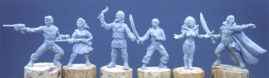 Bronze Age Miniatures - Flash Gordon Characters