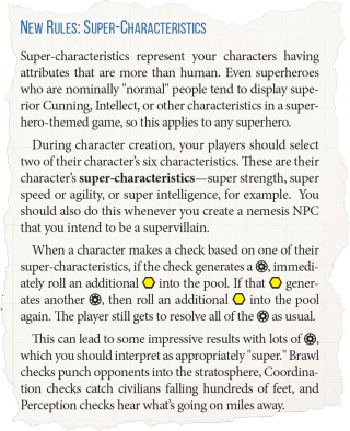 Genesys Role-Playing Game - Super Hero Characters