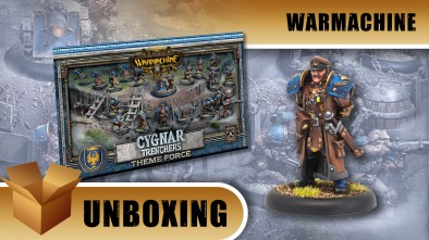Warmachine Unboxing: Cygnar Trenchers Theme Force