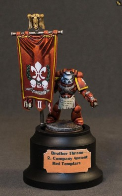 Red Templar Space Marine by reaperfcrew