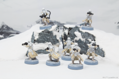 Star Wars Legion - Snowtroopers In Battle