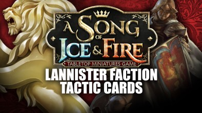 A Song of Ice & Fire: Lannister Tactic Cards