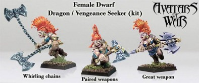 Female Dwarf Dragon & Vengeance Seeker - Avatars Of War