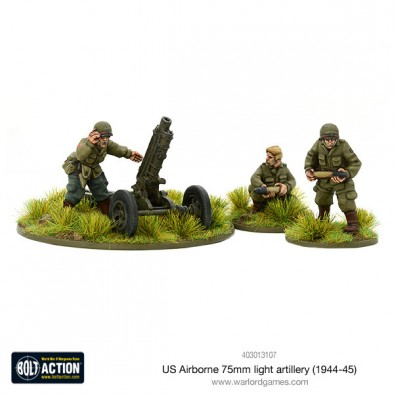 US Airborne 75mm Light Artillery - Bolt Action