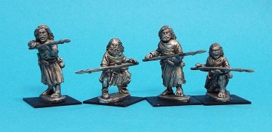 Warriors Standing Defending With Spears #1