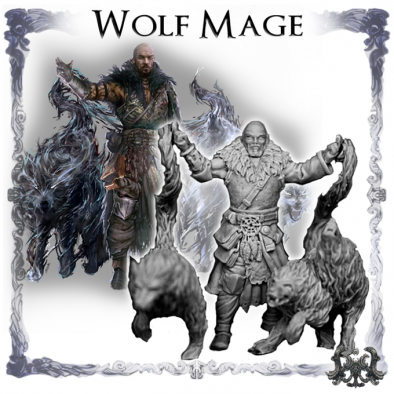 Wolf Mage - Wolfthorn Miniatures
