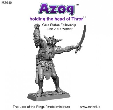 Azog Holding Head Of Thror - Mithril