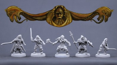 Bronze Age Miniatures Viking Males #1