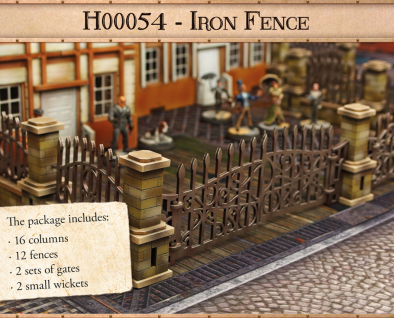 Iron Fence Set - Micro Art Studio