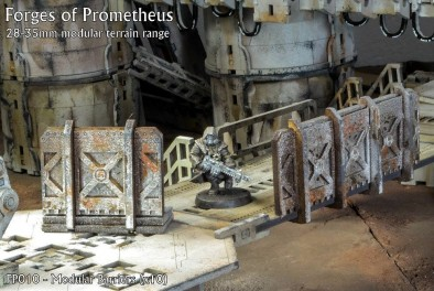 Multiverse Gaming Terrain Forges Of Prometheus Modular Walls