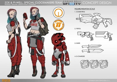 Zoe & Pi-Well, Special Clockmakers Team (Engineer & Remote) - Art