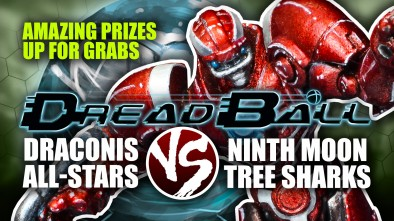Dreadball 2nd Edition: Draconis All-Stars Vs Ninth Moon Tree Sharks