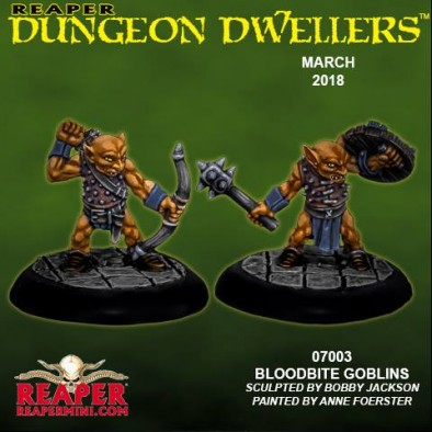 Dungeon Dwellers March - Bloodbite Goblins - Reaper Miniatures