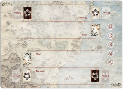 Legend Of The Five Rings Two Player Mat - Fantasy Flight Games