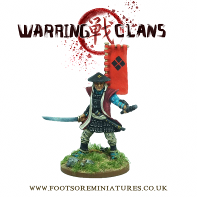 Warring Clans Samurai - Footsore Miniatures War Banner