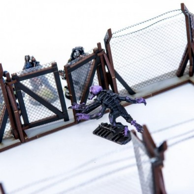 Wire Fenced Compound Gate
