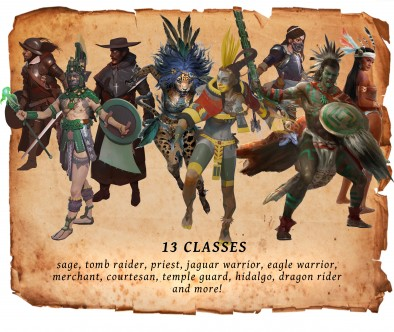 Dragons Conquer America Player Classes - Burning Games