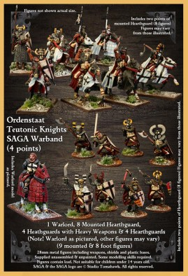 SAGA Age Of Crusades - Ordenstaat Teutonic Knights Warband (Alt)