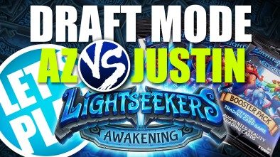 Let's Play: Lightseekers Booster Draft Game - Az vs Justin