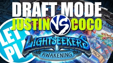 Let's Play: Lightseekers Booster Draft Game - Justin vs Coco