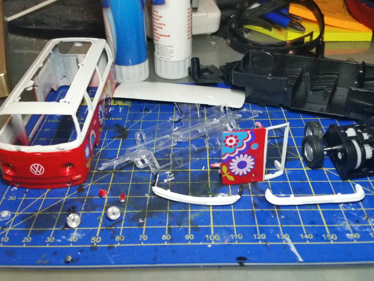 Disassembled it to strip the paint off the parts and rebuild it into something more Ork-like.