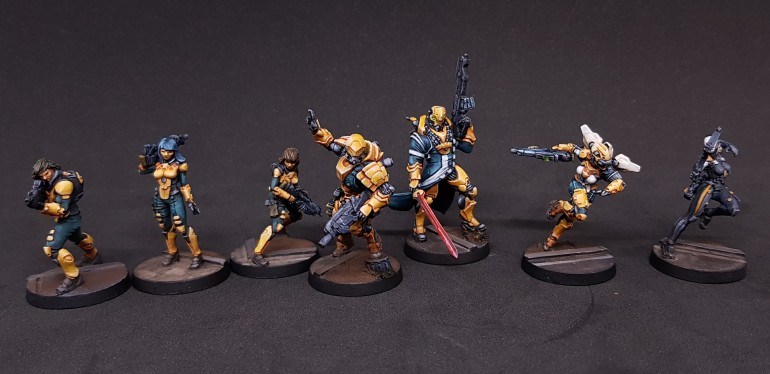 Finished Yu Jing models.