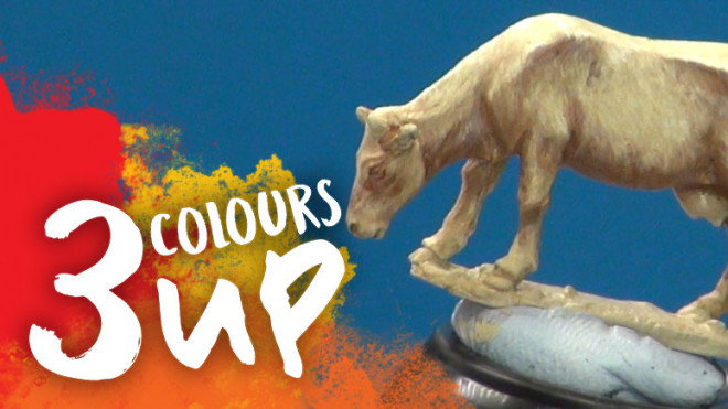 3 Colours Up: Painting Beige Animal Fur
