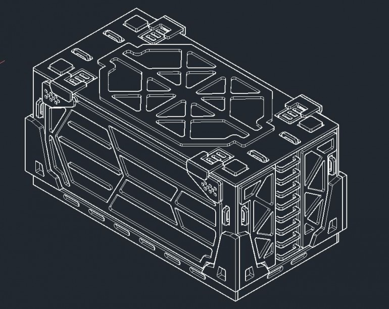 CAD drawing of the container.