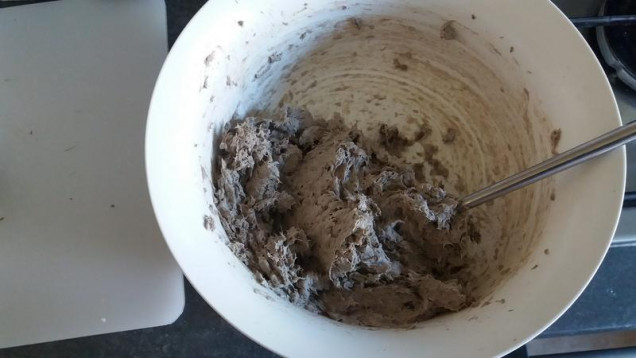 Take the resulting damp mulch and mix in lots of PVA glue until you get a soft paste, its fine to have lumpy bits. I find that storing the mixture in a sandwich/ freezer bag in the fridge means the mixture keeps fine for a few weeks, just let everyone know its not Tuna mayo!.