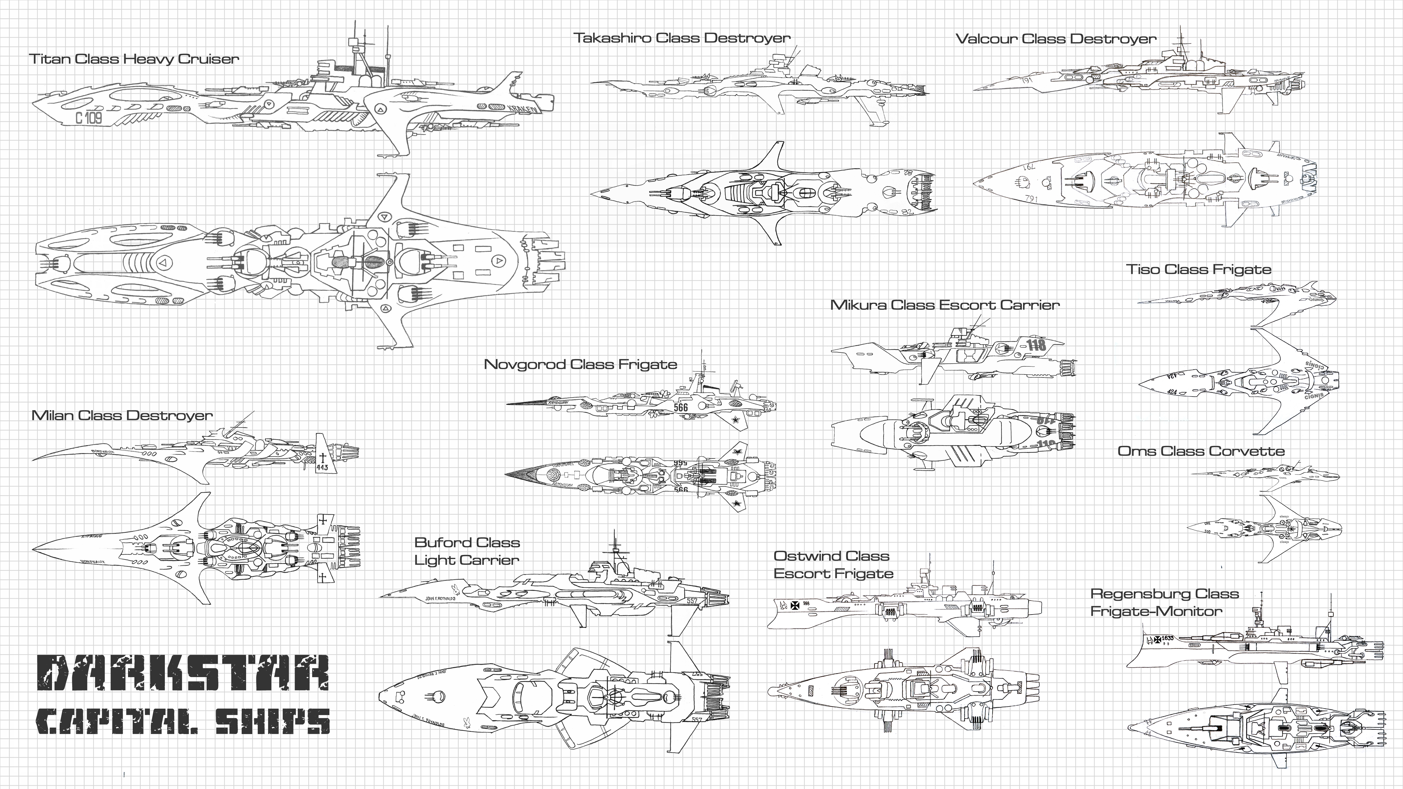 Darkstar – Starship Schematic Sample – OnTableTop – Home of Beasts on