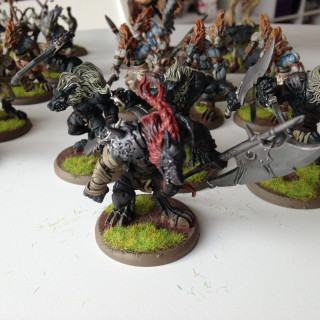 Wulfen / The Herd; a refurbished prepainted and secondhand army