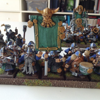 Dwarves; a speedpainted army done in three days by a friend (the owner) and myself
