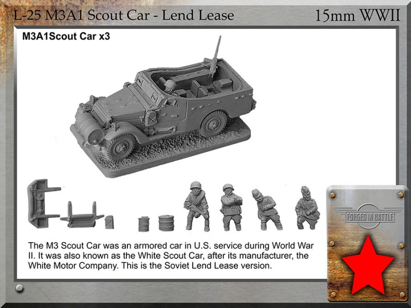 L-25 McA1 Scout Car Lend Lease - Forged In Battle