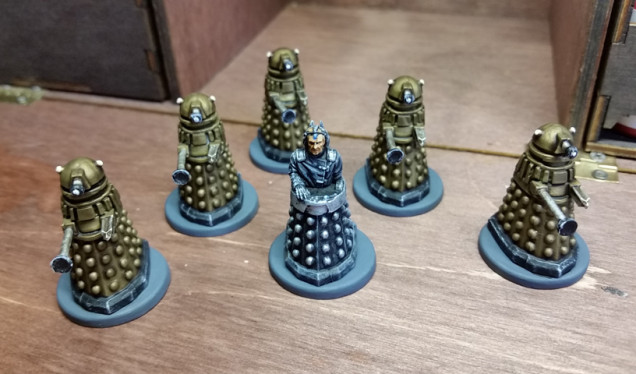 Davros and his army of 5 Daleks
