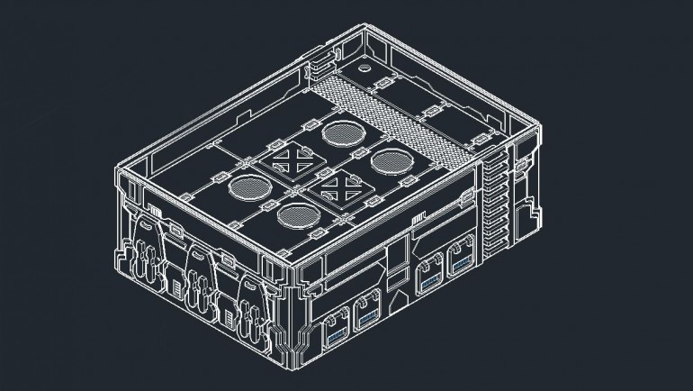CAD drawing of the Hub