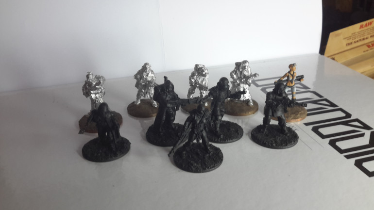 A selection of figures  to represent a group of scavengers/scrapers