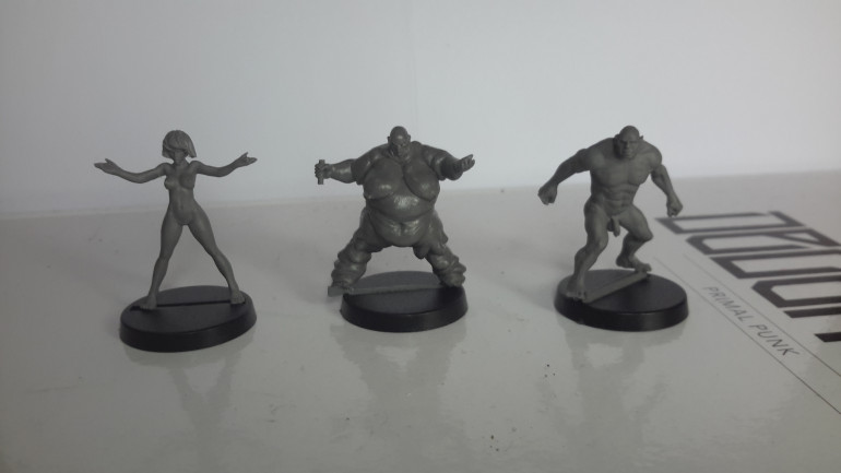 These will be converted to represent some of the Homo Degenesis (mutants). left to right; Pregnoctic, Psychokinetic and Bio kinetic.