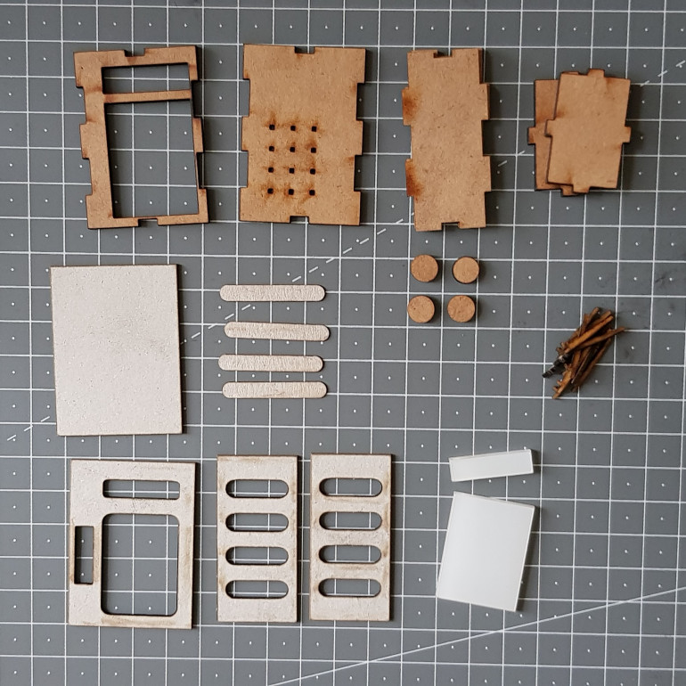 All the components cut out and ready for assembly.